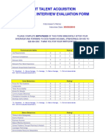 Competency Rating Template