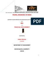 RURAL Banking in India Project