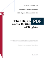 The UK, the EU  and a British Bill  of Rights