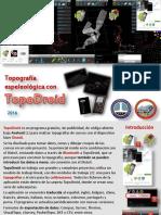 2016-05-15 Topografía Espeleológica TopoDroid 2016