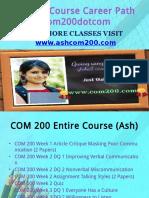 COM 200 Course Career Path Begins Com200dotcom