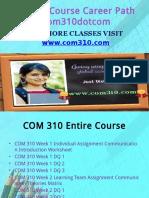 COM 310 Course Career Path Begins Com310dotcom