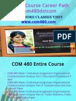 COM 480 Course Career Path Begins Com480dotcom