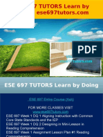 ESE 697 TUTORS Learn by Doing - Ese697tutors.com