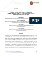 Vector Construction for Sod Gene Overexpression as an Attempt to Develop Phytoremediation Plants