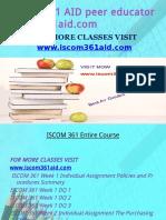 ISCOM 361 AID Education Expert-Iscom361aid.com