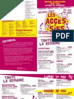 Programme Les Accessifs du 17 au 23 mai 2010, Poitiers, France