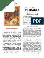 DEMONOLOGÍA López Martínez Nicolás - El demonio - Ed BAC Madrid 1982 v007 +++++