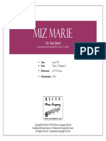 Miz Marie (Swing) - Big Band Score