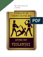 Proiect Educationalcombaterea Violentei in Scoala