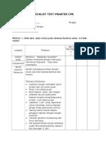 Checklist Test Praktek CPR
