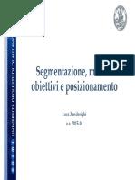 Segmentazione Corso MKTG Aa 2015-16