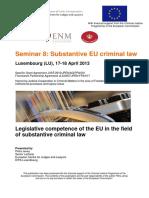 1.1 EU Substantive Criminal Law EU En