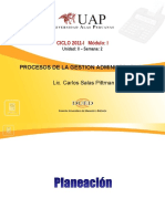 Ayuda 2.1. Planeacion