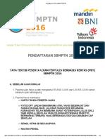 Tata Tertib Pendaftaran Online Sbmptn 2016
