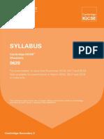 chemistry igcse syllabus 2016