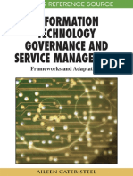 Buku Information Technology Governance and Service Management - Frameworks and Adaptations