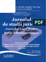 Jurnalul de Studii Juridice Supliment 1 2012