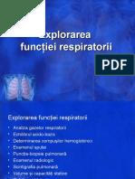 Explorarea functiei respiratorii-fiziopatologie