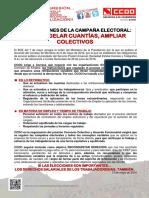 2242461-Comunicado Instrucciones de La Campaña Electoral