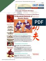 18 Wonderful Methods of Shaolin Monkas