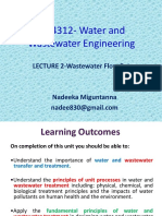 2Lecture;Wastewater Flow Rates