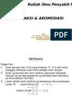 Kuliah 2012 Edit Blok 14 REFRAKSI & Akomodasi Dr.agus