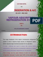 Vapour Absorption Refrigeration