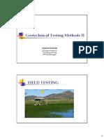 Geotechnical Testign Methods