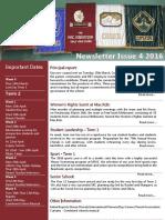 2016 Newsletter Issue 4