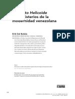 """Erik Del Bufalo, """"Proyecto Helicoide y los misterios de la modernidad venezolana"""""""