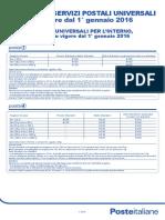 Prodotti Servizio Universale Listino