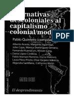 La Diferencia Económico-cultural Como Horizonte de Esperanza e Inteligibilidad Libro Alternativas Descoloniales 2016