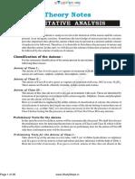 Qualitative Notes Chemistry Physical Chem