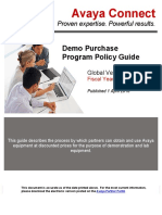 Global Demo Purchase Program Policy Guide 01APR2016
