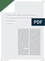 Lidentita Della Moda Italiana.