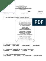 Evaluacion Consonantes m y l s p Primero b