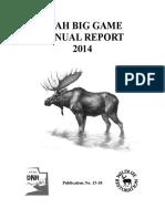 Utah 2014 Big Game Annual Report