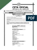 Gaceta_3280_ley 5047-15 Trabajo Doméstico