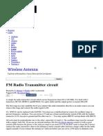 FM Radio Transmitter Circuit