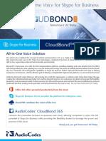Skype for Business CloudBond 365