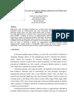 Revisão Integrativa sobre o tema da Economia Solidária publicados no EnANPAD entre 2004 e 2013