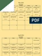 adv mth 7 assignment calendar