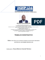 INFLUÊNCIA DO CONTROLO INTERNO NO SECTOR DE TERCEIROS (ESTUDO DE CASO ROBERT HUDSON,LTD) -  João Maria Funzi Chimpolo
