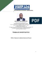 Sistema de Auditoria Interna do Pessoal -  João Maria Funzi Chimpolo -