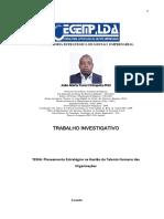 Planeamento Estratégico na Gestão do Talento Humano das Organizações -  João Maria Funzi Chimpolo