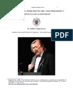 PETER SLOTERDIJK; TEMBLORES DE AIRE, ATMOTERRORISMO Y CREPÚSCULO DE LA INMUNIDAD Por Adolfo Vásquez Rocca PH.D.