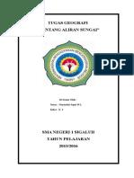TUGAS GEOGRAF TENTANG ALIRAN SUNGAI.doc