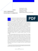 Shareholder Trading Practices and Corporate Investment Horizons