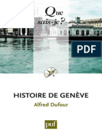 Histoire de Geneve - Alfred Dufour